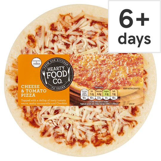 Hearty Food Co. Cheese And Tomato Pizza 114G