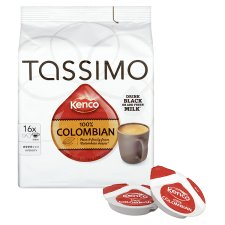 Tassimo Kenco Pure Colombian Coffee 16Serv 136G