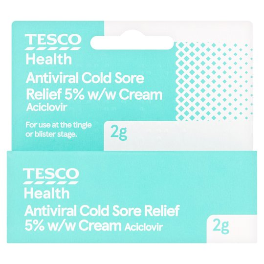 Tesco Aciclovir Antiviral Cold Sore Cream 2G