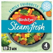 Birds Eye Steamfresh 4 Family Favourite Mix Vegetable 540G