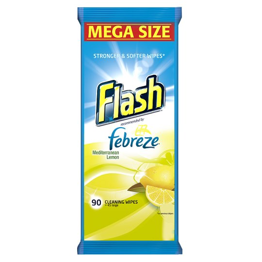 Flash Cleaning Wipes Lemon 90 Pack