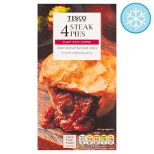 Tesco 4 Steak Pies 568G