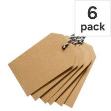 Tesco Multi Craft Tag 6 Pack