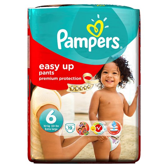 Pampers Easy Ups Size 6 Carry Pack - 19 nappies