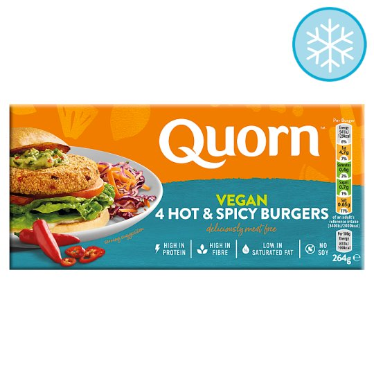 Quorn Vegan Hot And Spicy Burger 4 Pack 264G