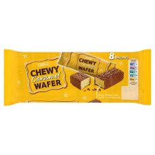 Tesco Chewy Caramel Wafer Biscuit 8Pk 224G