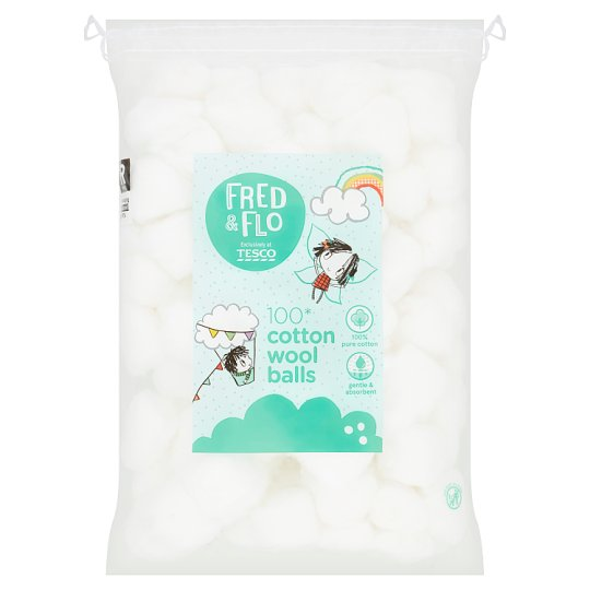 Fred And Flo 100 Cotton Wool Balls
