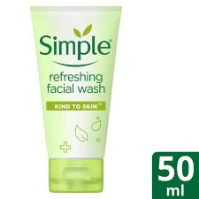 Simple Kind To Skin Refreshing Face Wash Gel 50Ml