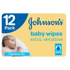 Johnson's Baby Wipes Extra Sensitive 12 Pack