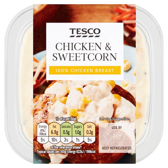 Tesco Chicken And Sweetcorn Sandwich Filler 270G