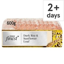 Tesco Finest Dark Rye& Sunflower Farmhouse 600G