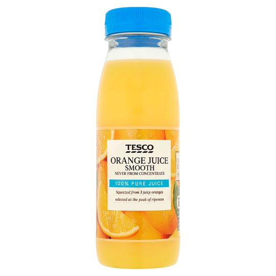 Tesco Not From Concentrate Orange Juice 250Ml