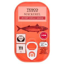 Tesco Mackerel In Hot Sauce 125G
