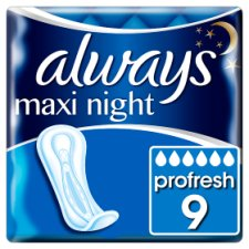 Always Maxi Size 3 Night Sanitary Towels 9 Pack