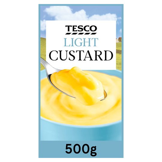 Tesco Ready To Serve Low Fat Custard 500G