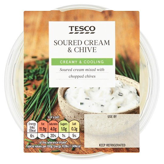 Tesco Soured Cream And Chive Dip 200G