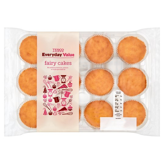 Tesco Everyday Value 12 Fairy Cakes