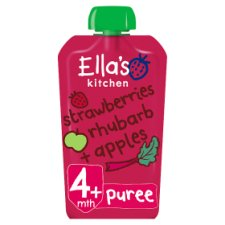 Ella's Kitchen Strawberry Rhubarb And Apples 120G