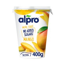 Alpro No Added Sugar Yogurt Mango 400G