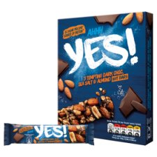 image 2 of Yes Dark Chocolate Sea Salt And Almond Nuts Bars 3X35g