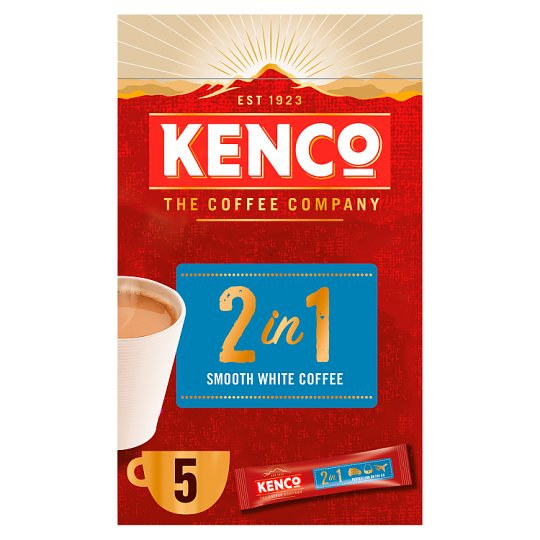 image 1 of Kenco 2 In 1 Instant Smooth White Coffee 5 Sachet 70G