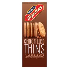 Mcvitie's Chocolate Filled Thins Milk Chocolate 130G