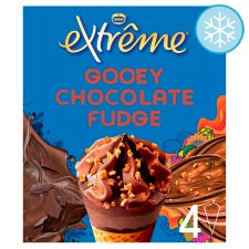 Extreme Gooey Chocolate Fudge Ice Cream Cone 4X120ml