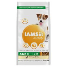 Iams Small Medium Adult Dog Food With Chicken 2Kg
