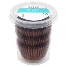 Tesco 75 Brown Petit Four Cases
