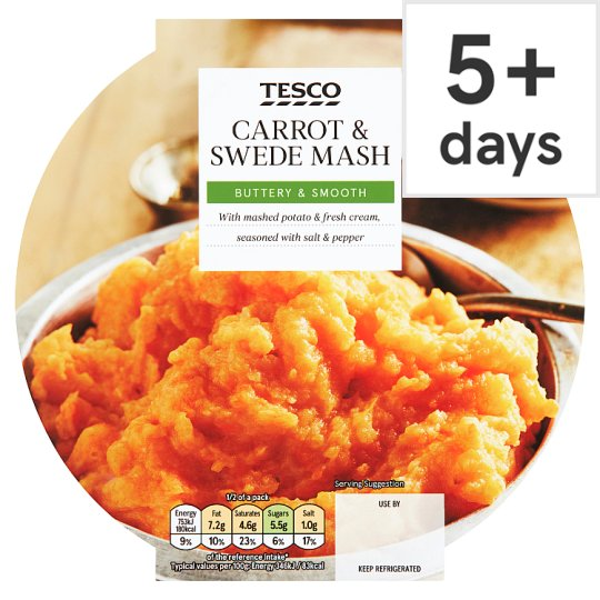 Tesco Carrot And Swede Mash 450G
