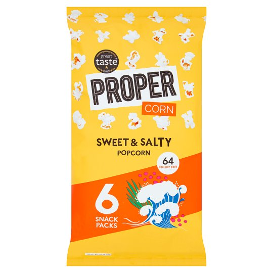 image 1 of Propercorn Sweet And Salty Popcorn 6 Pack