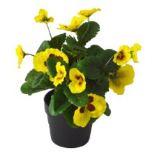 Artificial Yellow Pansy