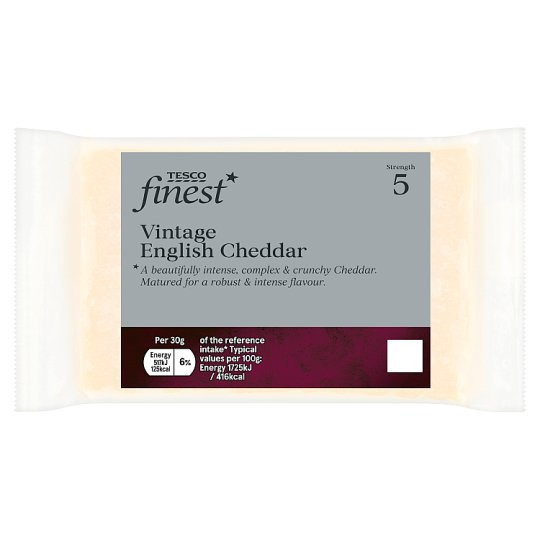 Tesco Finest Vintage Cheddar Cheese 300 G