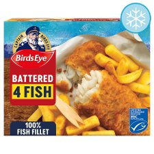 Birds Eye 4 Battered Fish Fillets 400G