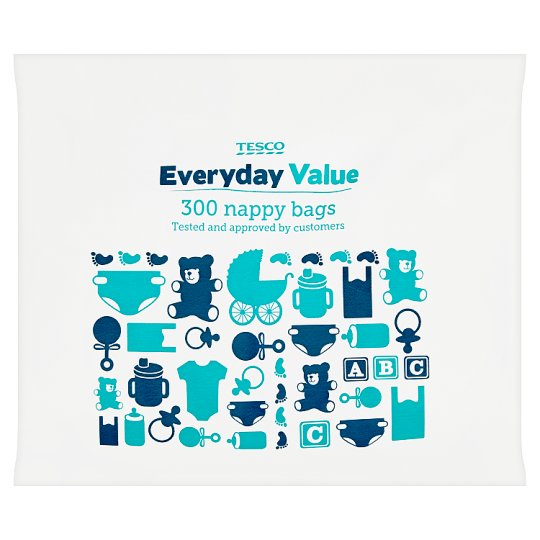 Tesco Everyday Value Nappy Bags 300