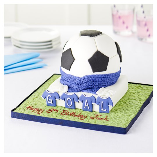 Tesco Groceries Cake Decorations : Easy Entertaining Blue Football Cake - Groceries - Tesco ...