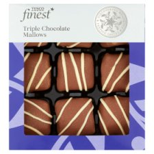 Tesco Finest Triple Chocolate Mallows 130G