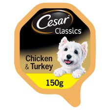 Cesar Chicken And Turkey Dog Food Tray 150G