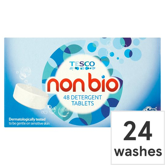 Tesco Non-Bio. Tablets 24 Washes 48Pk