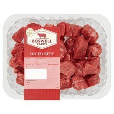 Boswell Farms Diced Beef 400G