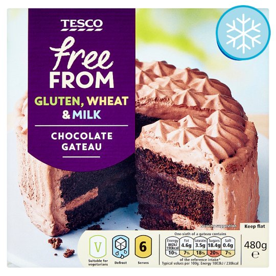 Tesco Free From Chocolate Gateau 480G