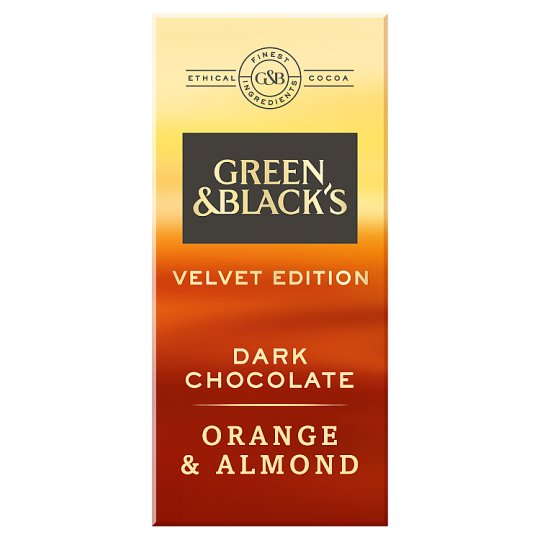 Green And Blacks Dark Orange And Almond Chocolate 90G