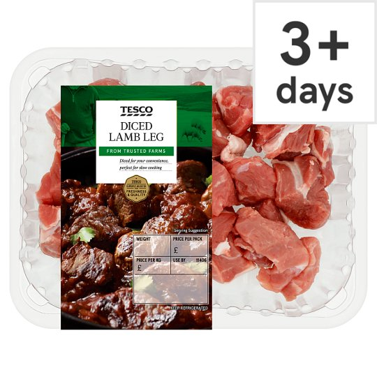 Tesco Lamb Diced Leg 300G