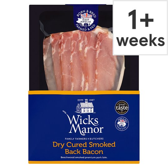 Wicks Manor Smoked Back Bacon 200G (L)