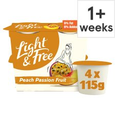 Light & Free Greek Style Peach Passion Fruit Yogurt 4X115g