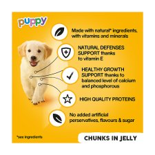 image 2 of Pedigree Can Cuts In Jelly Tinned Puppy Food 6 X400g