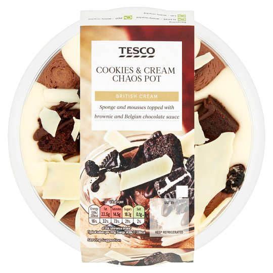 Tesco Chocolate Cookies And Cream Chaos 384G