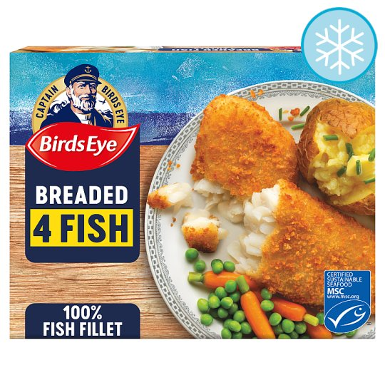 Birds Eye 4 Breaded Fish Fillets 400G