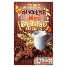 Tesco Mini Chocolate Breakfast Biscuit 6 Pack