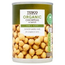 Tesco Organic Chick Peas In Water 400G